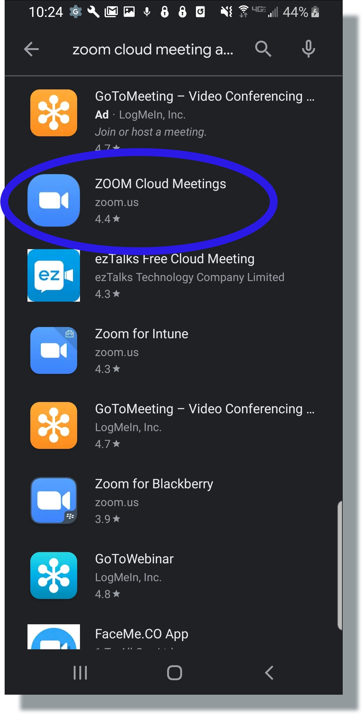 Zoom Android Client